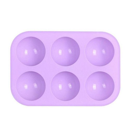 Food Grade Bakeware Baking Accessories Hemisphere Shape Silicone Chocolate Candy Cow Silicone Mold Cake Fondant Mould 6 Holes