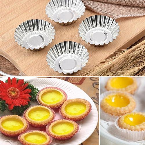 20/30pcs Egg Tart Molds Baking Cups Tins Cupcake Mold Reusable Mini Pie Pan Portuguese Tart DIY Baking Mold Home Baking Tool
