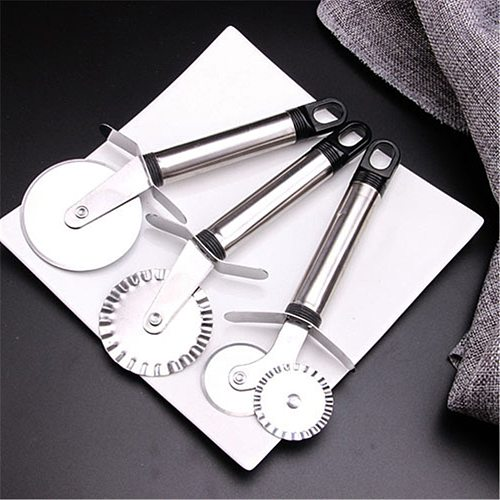 1Pc Round Pizza Cutter Stainless Steel Handle Pizza Knife Cutter Pastry Pasta Dough Kitchen Baking Tools