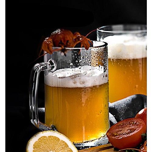 Top quality 500ml Beer Glass Tumblers Draft Beers Cup Lead-free Pilsner Glass Coffee Tea Beer Mug Thicken Pub Glasses Tankard