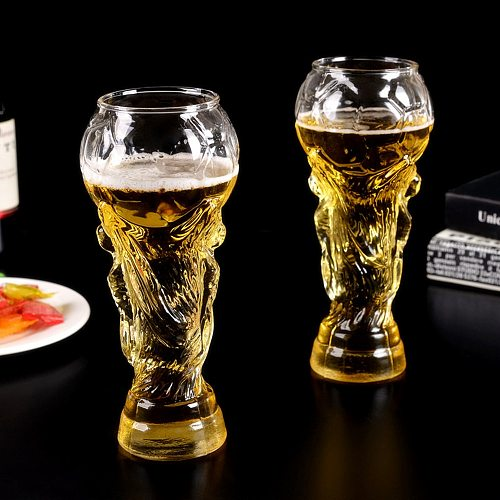Brand New Creative Football Game Crystal World Cup Design Crystal Beer Glass Cup Beer Water Mug Barware Party 450ml