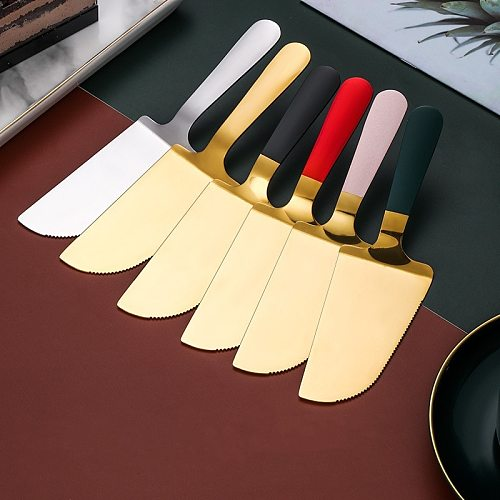 1PCS Stainless Steel Toothed Pizza Shovel Cake Butter Cheese Ice Cream Dessert Cutter Food High-End Kitchen Baking Tools