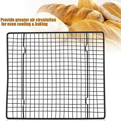 Steel Non-stick Cake Cooling Net Baking Tray Utensils Grill Net Baking 26cmX23cmX3cm Barbecue Cooling Rack Non-st C3N6