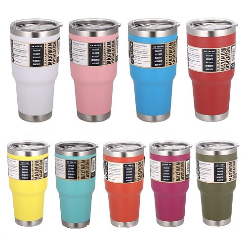 With MagSlider Lid Coffee Mug Water Cup Stainless Steel 30oz Thermos Tumbler Cups Vacuum Flask Thermo Cups Bottle Thermocup