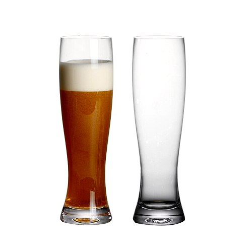 Set of 2 13.5 ounce new lead-free crystal beer glass handmade blown  pilsner beer glasses for family party bar  400ml capacity