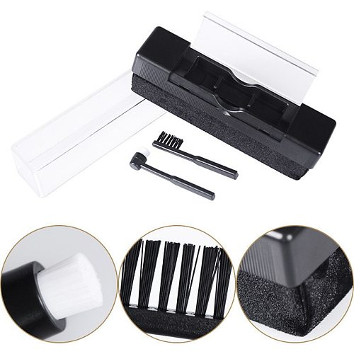Vinyl Record Cleaning Brush Anti Static Turntable Cleaner Kit Record Care Tools