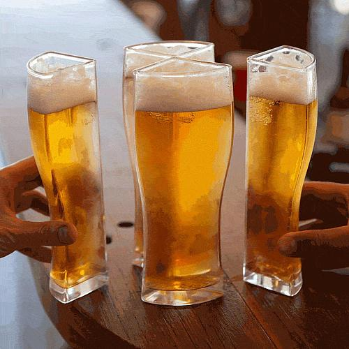Super Schooner Beer Glasses Mug Cup New Separable 4 Parts Large Capacity Thick Beer Mug Glass Transparent for Club Bar Party