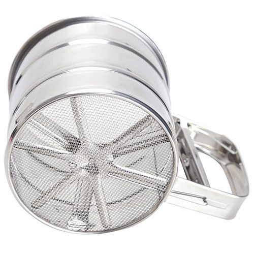 Mesh Flour Sifter Manual Sugar Icing Shaker Stainless Steel Cup Shape Kitchen Tools MDJ998