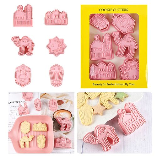 Ramadan decoration Eid Mubarak Cookies Cutters Camel Moon Star Biscuit Mold Islamic Muslim Festival Party Supplies Baking Tools
