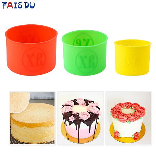 No-stick Round Silicone Cake Mold Random Color Mousse Cake Moulds DIY Desserts Baking Mold Tools