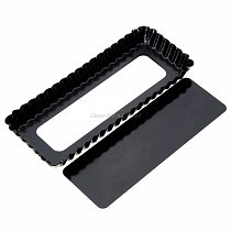 Fluted Pie Tart Pan Mold Baking Removable Bottom Nonstick Quiche Tool Rectangle Dropshipping