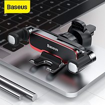 Baseus Gravity Car Phone Holder Metal Auto Air Outlet Mobilephone Stand For 4.7-6.5 Inch Phone Invisibile Car Support