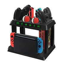 For NS Switch Multifunctional Charging Station Stand Holder Bracket for PokeBall Switch Host Pro JoyCon Controller Storage Rack
