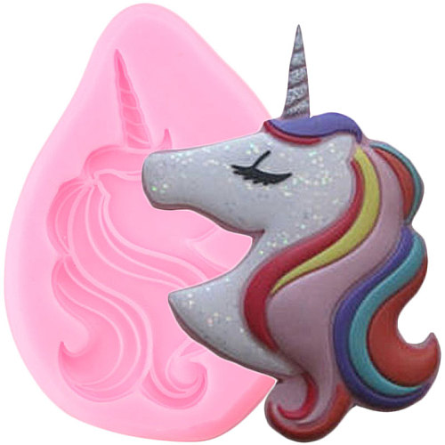 Unicorn Silicone Mold Cupcake Topper Fondant Molds DIY Baby Birthday Cake Decorating Tools Candy Clay Chocolate Gumpaste Mould