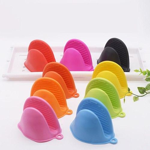 1 Pcs Kitchen Baking silica gel heat insulation clip Anti-scalding Oven  Gloves Non Stick Anti-slip Handles BBQ  Gloves