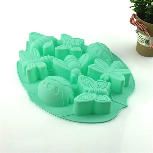 4YANG Butterfly Bee Ladybug Shape Cake Silicone Mold Easter Insect Fondant Cake Stencil Chocolate Pastry Dessert Baking Mould