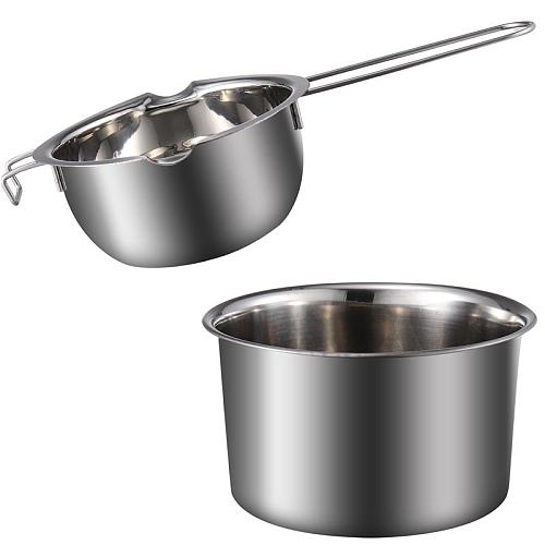 Stainless Steel Double Boiler Chocolate Butter Melting Pot Fondant Milk Bowl Boiler Cheese Pan Heating Baking Tools