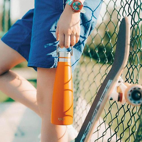KKF Thermos Cup Normal version Vacuum Bottle 24h Insulation Travel Mug Portable Sports Cold Cup Stainless Steel