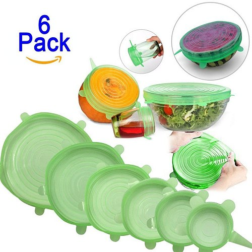 silicon stretch lids universal lid Silicone food wrap bowl pot lid silicone cover pan cooking Kitchen accessories