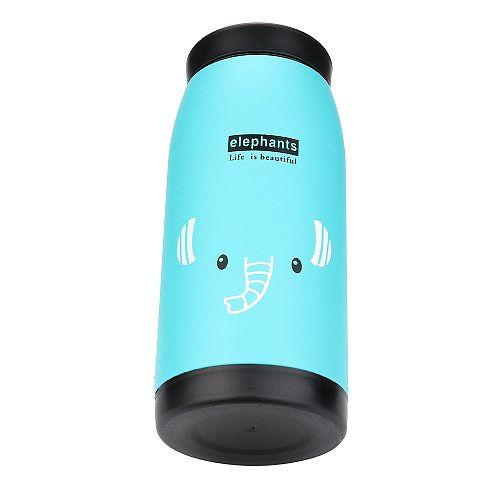 Cute Winter Warm Drinking Bottle Mini Vacuum Mug Cute Animal Kid Thermos Stainless Steel Hot Water Bottle Travel Cup*J