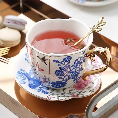 Ceramics Coffee Cup Saucers Suit Ins English Style Originality Black Tea Teacup Household Afternoon Tea Latte Black Coffee Mugs