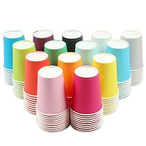 10pcs/lot Disposable Paper Cup Drinking Cup For Wedding Party Supplies Party Decoration Children Creative DIY handmade materials