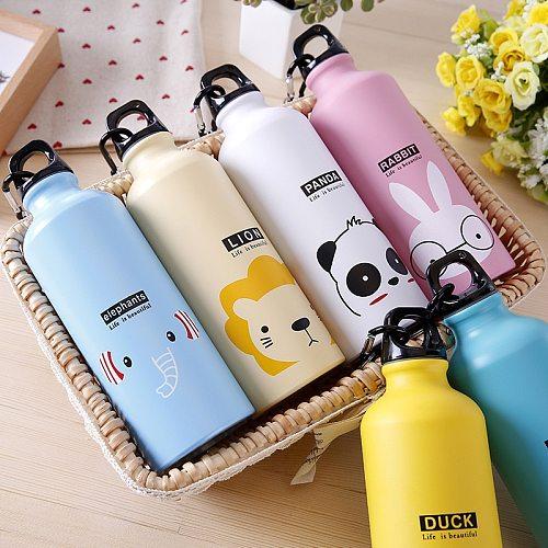 Outdoor Travel Pattern Aluminum 495ML Cartoon Drinkware Gym Sports Kids Water Bottles Kitchen Accessories Water Bottle Supplies