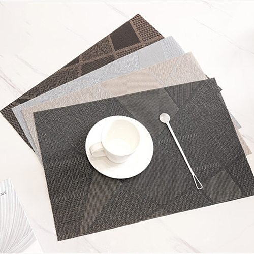 4 Pcs/set PVC  Heat Resistant Mat Dining Placemat Drying Mats For Dishes Coaster Rug For Bowls Rug For The Kitchen Table mat