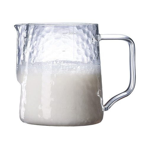500ml Glass Measuring Cup Thicken Frothing Pitcher Cup Espresso Coffee Milk Measuring Cup For DIY Baking Kitchen Accessories