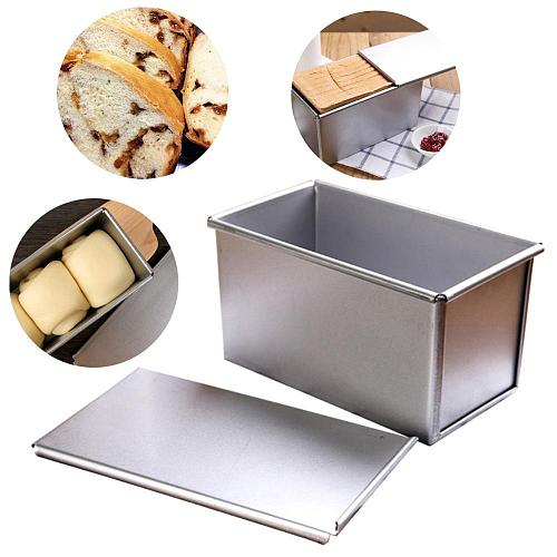 450g Aluminum alloy black non-stick coating Toast boxes Bread Loaf Pan cake mold baking tool with lid