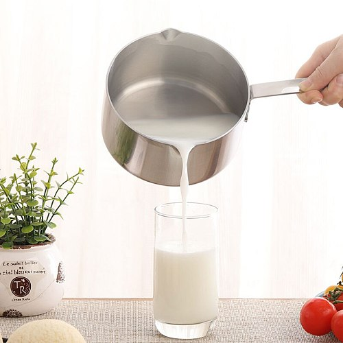 (21oz/600ml) Coffee pot Butter Coffee maker Milk Warmer Mini Butter Melting Pot with Spout 304 Tri-Ply Stainless Steel