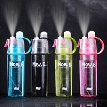 400/600ML Water Bottle Spray Plastic Cup Leakproof Candy Color Bottle Gym Yoga Sport Kettle Travel Camping Portable