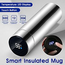 1pc Stainless Steel Vacuum Flask Smart Kettle LCD Screen Display Temperature Long-lasting insulation cheap price durable c50