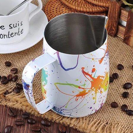 Barista Space Splash Steel Milk Pot Pitcher 600 ml.