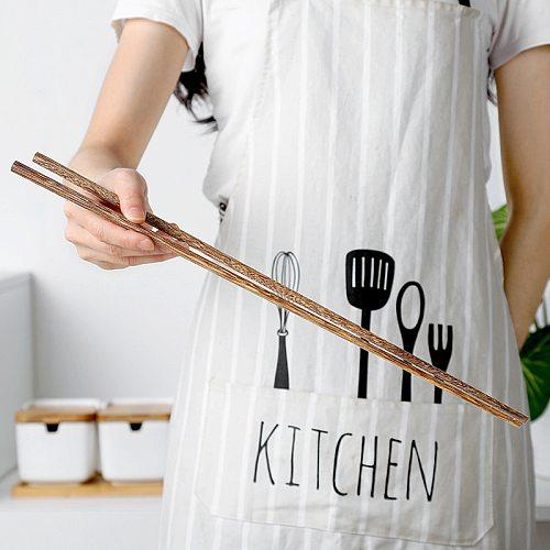 1 pair of 42 cm long chopsticks wood pulp chopsticks deep pot Chinese chopsticks kitchen utensils Japanese household tableware