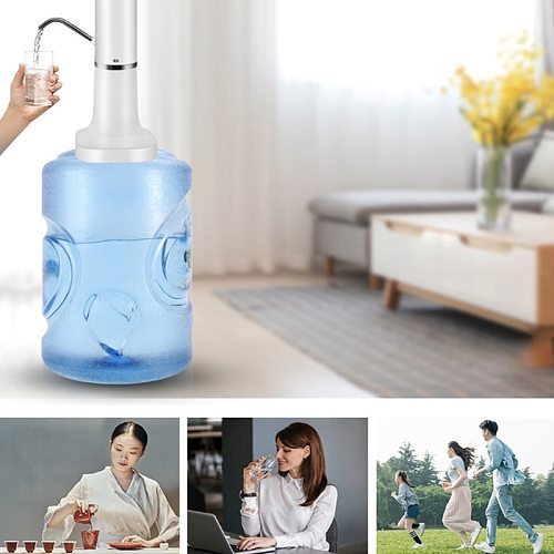5V Hand Press Water Pump Home Automatic Water Dispenser USB Charging Intelligent Electric Bottled Drinking Water Pump