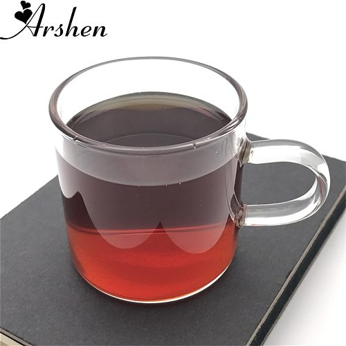 Arshen Durable 120ml High Borosilicate Heat Resisting Tea Coffee Set Cup with Handle Glassware Milk Cup for Family Party