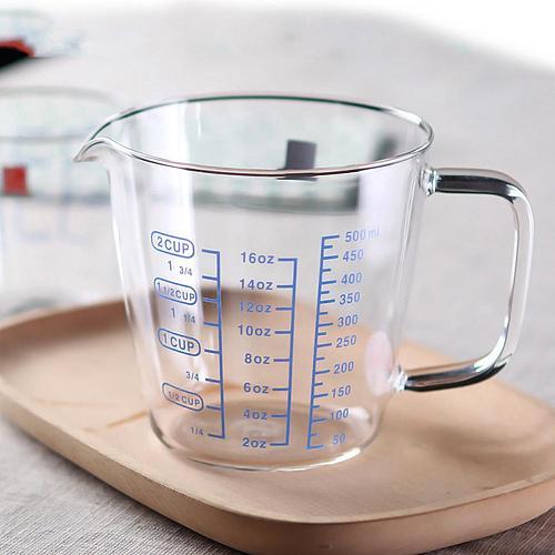 250ml/500ml Heat Resisting Glass Measuring Cup Milk Water Scale Microwave Tool Handmade Beer Mug Tea glass Whiskey Glass Cups