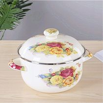 Enamel Soup Pot Large Flat Bottom Soup Pot Enamel Pot Soup Pot Hot Pot Gas Stove Universal Ceramic Cooking Pot Cookware Set