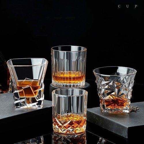 Lead-Free Glass Cup Household Wine Glass Set Large Beer Steins Distilled Beverage Wine Set