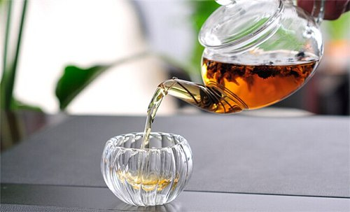 6pcs/Lot 50ml Double Wall Clear Glass Kongfu Tea Mug Set,Pumpkin Shape Mug, heat-resistant  Double Wall Glass Teacup