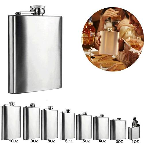 Portable 1/3/4/5/6/8/9/10oz Stainless Steel Wine Pot Hip Liquor Whiskey Alcohol Flask Cap and Funnel Hip Flask