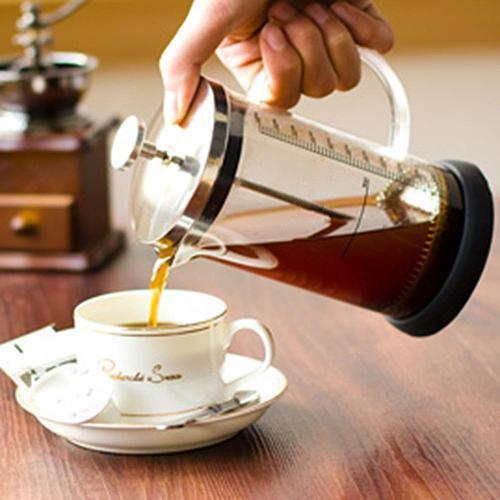350/600ML Glass French Press Coffee Pots Detachable Cafetiere French Coffee Tea Filter Pot Manual Coffee Espresso Maker Pot