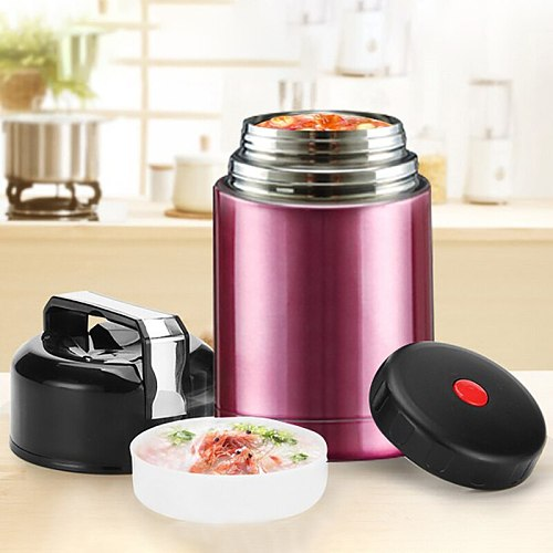 800ML/1000ML Thermos Lunch Box Double Stainless Steel Food Soup Containers Portable Vacuum Flasks Thermocup For School Office