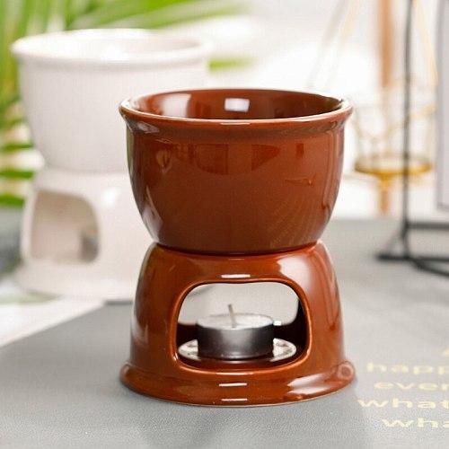 Ceramic Chocolate Fondue Set Ice Cream Cheese Pot Set Porcelain Melting Pot L5YE