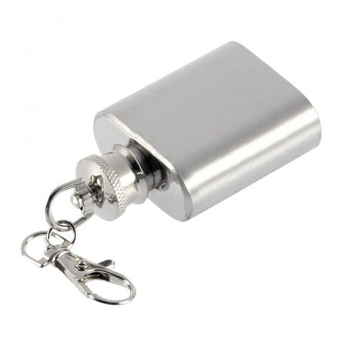 1Pc Flask Alcohol Wine Hip Drink Flasks Stainless Steel 1 Oz Pot BO6 Hip Flask With Key Chain Kitchen Accessories Bar Drinkware