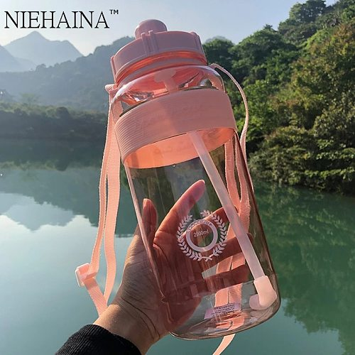 2000ml-600ml Outdoor Fitness Sports Bottle Kettle Large Capacity Portable Climbing Bicycle Water Bottles BPA Free Gym Space Cups