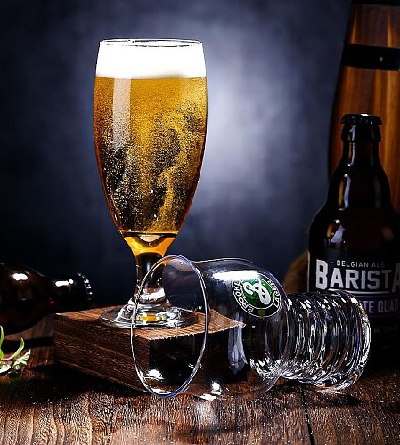500ml beer glass beer cup logo printing is available for bars