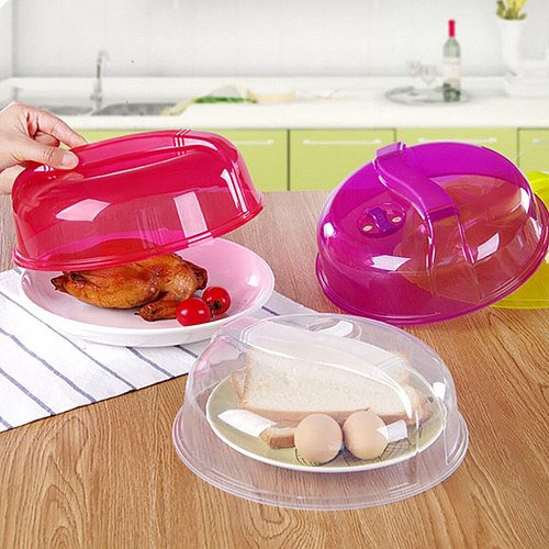 2019 Newest Hot Kitchen Microwave Plate Cover Gadgets Lid Dish Food Cover Splatter Guard Tool