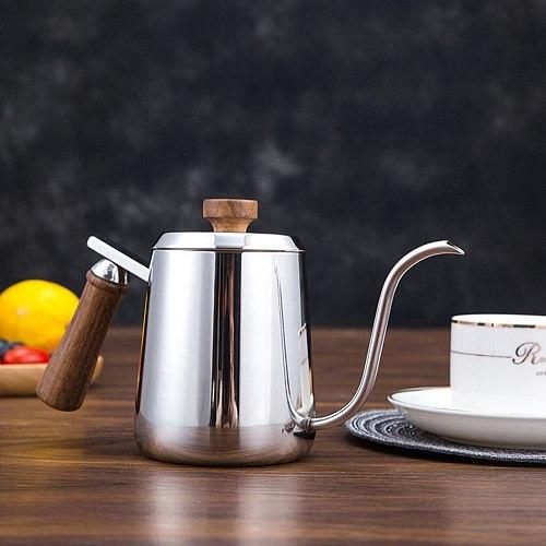 600ml 350ml Stainless Steel Teapot Drip Coffee Pot Long Spout Kettle Cup Home Kitchen Tea Tool Gooseneck Kettle
